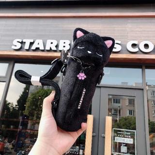 Starbucks Coffee - スタバ サーモス 猫 ステンレスボトル 黒 ニャンコ カバー 海外限定 ギフト