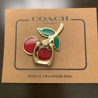 コーチ(COACH)の新品 COACH フォンリング 携帯 リング さくらんぼ(その他)