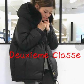 DEUXIEME CLASSE - Deuxieme Classe フードダウン 黒 ドゥーズィエムクラス