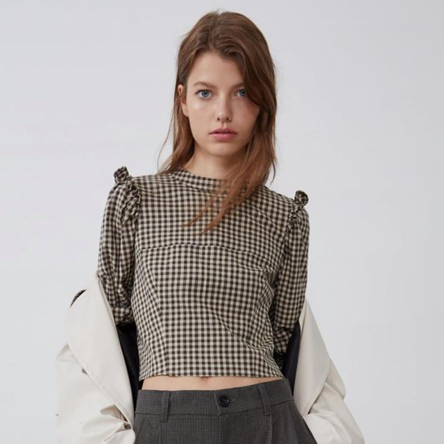 ZARA(ザラ)のZARA チェックシャツ レディースのトップス(シャツ/ブラウス(長袖/七分))の商品写真