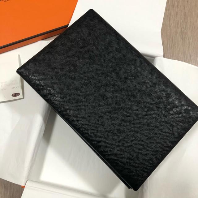 Hermes(エルメス)の限定値下エルメス♡カルヴィMMクラッチバッグノワール×ゴールド黒茶ヴォーエプソン レディースのバッグ(クラッチバッグ)の商品写真