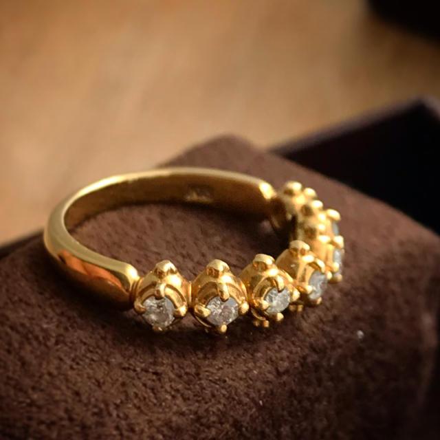 AHKAH(アーカー)のAHKAH 18k GOLD ダイヤモンドリング◆最終お値引き レディースのアクセサリー(リング(指輪))の商品写真