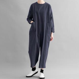 merlot - 今季新作☆MERLOT IKYU 切替しデザインジャンプスーツ オーバーオール