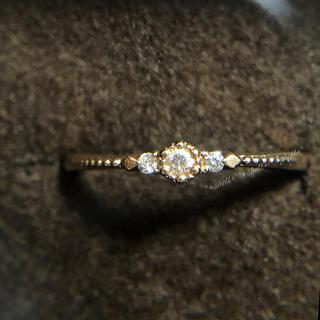 アガット(agete)のagete アガット K10 0.04 ヘキサゴン ダイヤモンドリング 7号(リング(指輪))