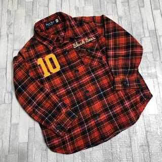 ミキハウス(mikihouse)のミキハウス black bear  チェックシャツ 90(ブラウス)