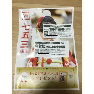 キタムラ 半額券 + スタジオマリオ キャビネ写真