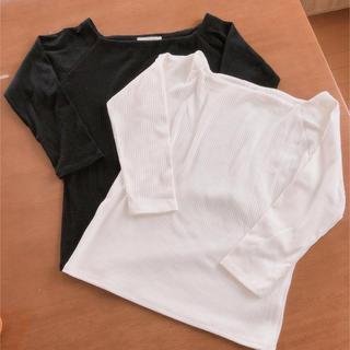 ローリーズファーム(LOWRYS FARM)のローリーズファーム リブTシャツ カットソー 2枚セット(カットソー(長袖/七分))