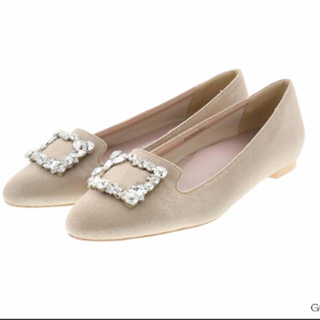 RANDA(ランダ)のRANDA スクエアビジューオペラパンプス レディースの靴/シューズ(ハイヒール/パンプス)の商品写真