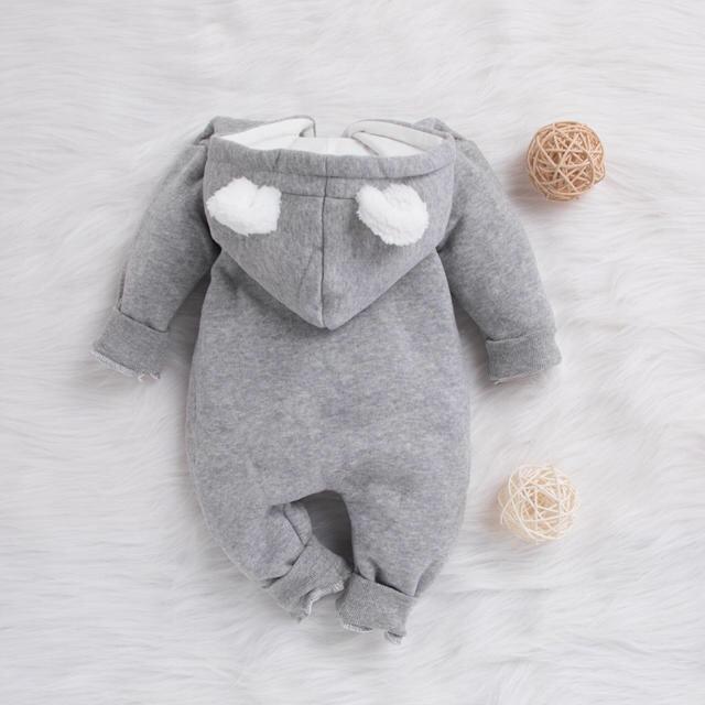 babyGAP(ベビーギャップ)のカバーオール ロンパース 耳付き アウター 3-6months キッズ/ベビー/マタニティのベビー服(~85cm)(カバーオール)の商品写真