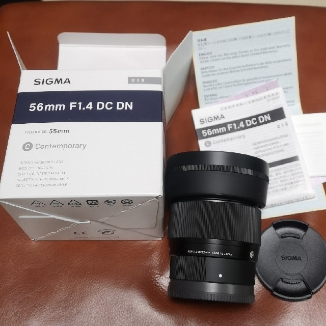 SIGMA(シグマ)のシグマ SIGMA  56mm C F1.4 DC DN ソニーEマウント 美品 スマホ/家電/カメラのカメラ(レンズ(単焦点))の商品写真