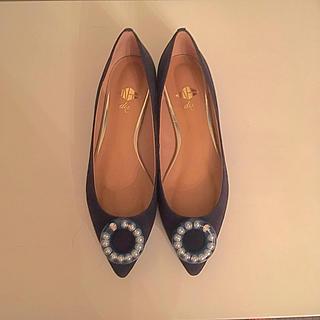 ナンバートゥエンティワン(No. 21)のNo.21 スエード フラットパンプス(ローファー/革靴)