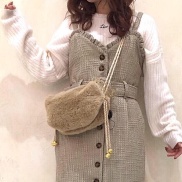 one after another NICE CLAUP(ワンアフターアナザーナイスクラップ)の新品 one after another NICE CLAUP  ロゴリブニット レディースのトップス(ニット/セーター)の商品写真