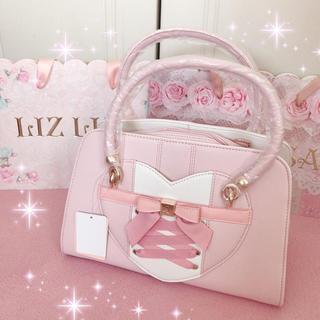 LIZ LISA - ☆リズリサLIZLISA☆ハートデザイン☆レースアップバッグ☆ピンク新品