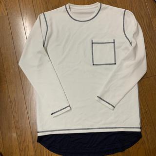 シップス(SHIPS)のフェイクレイヤー ステッチ カットソー ロンT シップス(Tシャツ/カットソー(七分/長袖))
