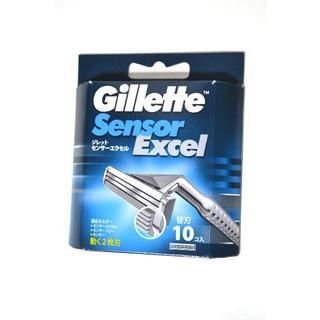 新品 ジレット センサーエクセル 替刃 10コ入り 2枚刃 髭剃り 剃刃 未使用