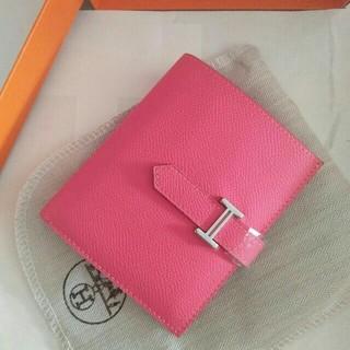 Hermes - ローズリップスティック 二折財布