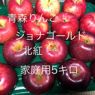 青森りんご ジョナゴールド&北紅 家庭用りんご5キロ 送料込(フルーツ)