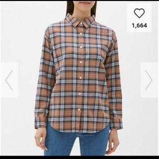 GU - GU ジーユー フランネルチェックシャツ
