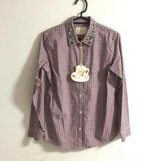 チェスティ(Chesty)のChesty ビジュー付き チェックシャツ(シャツ/ブラウス(長袖/七分))