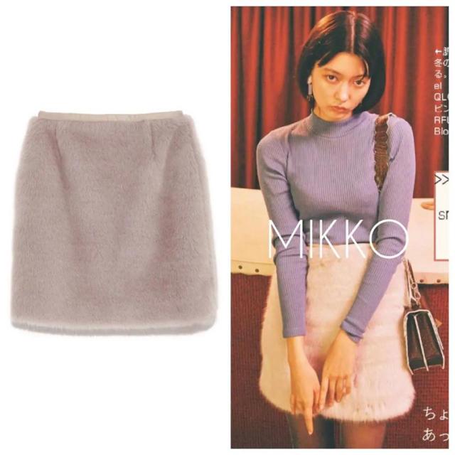 snidel(スナイデル)の未使用タグ付き  SNIDEL エコファースクエアスカート レディースのスカート(ミニスカート)の商品写真