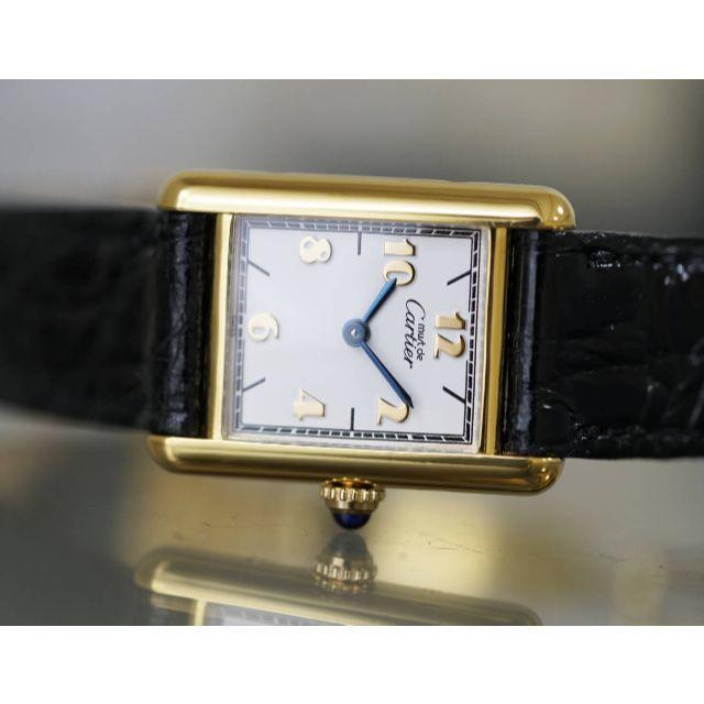Cartier(カルティエ)の美品 カルティエ マスト タンク ゴールドアラビア SM Cartier レディースのファッション小物(腕時計)の商品写真