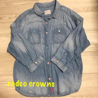 RODEO CROWNS - ロデオ☆デニムシャツ