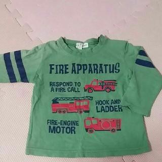 サンカンシオン(3can4on)の処分 3can 4on 80サイズ Tシャツ  ロンT  消防車(Tシャツ)