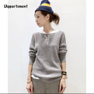 L'Appartement DEUXIEME CLASSE - L'Appartement◇ Thermal Inner Knitグレー