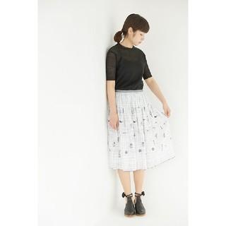 mina perhonen - ミナペルホネンランドリー  wander 刺繍使いギャザースカート 36