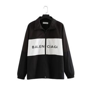 バレンシアガ(Balenciaga)の 值下 美品 19FW balenciaga トラックジャケット/男女兼用(ナイロンジャケット)