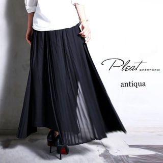 ご予約品☆彡新品☆彡【antiqua】モード アシメ プリーツ スカート