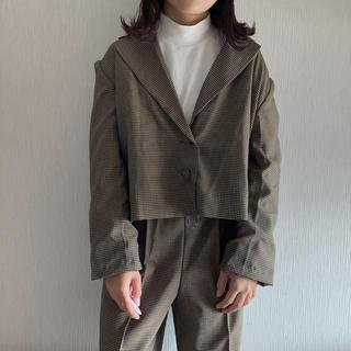 dholic - DHOLIC チェックショートジャケット&ストラップ付きパンツSET