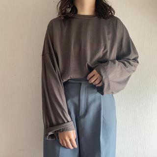 ダブルクローゼット(w closet)のWcloset シルクタッチ天竺ルーズロンTee(Tシャツ(長袖/七分))
