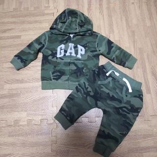 ベビーギャップ(babyGAP)のbaby GAP 迷彩 くま耳パーカー&パンツ セット(パンツ)