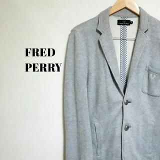 FRED PERRY - 美シルエット☆ 上質 フレッドペリー テーラードジャケット 月桂樹ロゴ メンズ