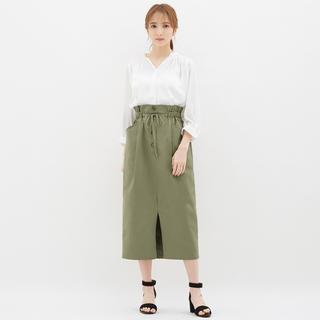 ジーユー(GU)のGU ペーパーバックミディスカート(ロングスカート)