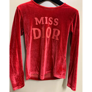 クリスチャンディオール(Christian Dior)のクリスチャン・ディオール ベロア ロングTシャツ(Tシャツ/カットソー)