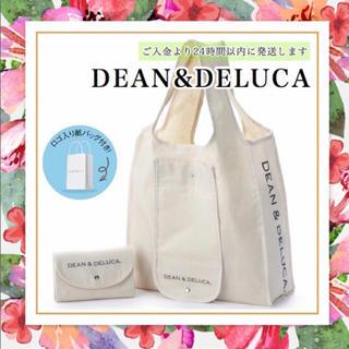 DEAN & DELUCA - 紙袋付きDEAN&DELUCAナチュラルエコバッグトートバッグショッピングバッグ