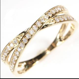 天然 0.19ct ダイヤモンド 18K18WG PT  印字あり(リング(指輪))