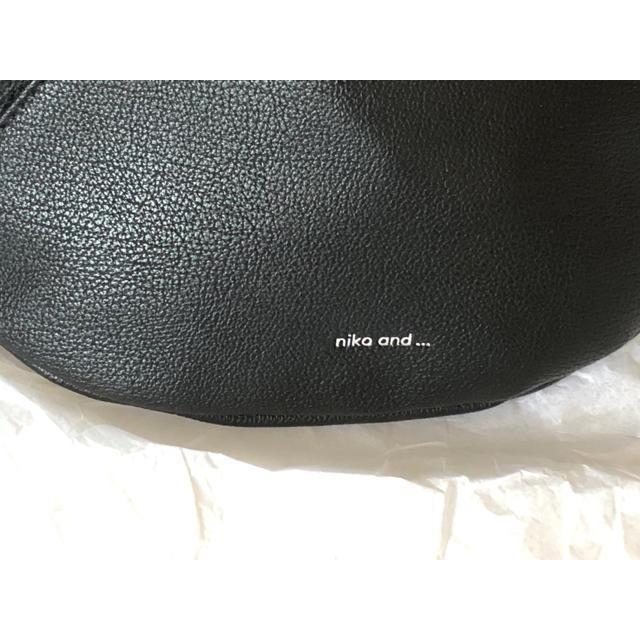 niko and...(ニコアンド)のタッセル付き★ レザー調 ブラック ★ニコアンド  ボディバッグ レディースのバッグ(ボディバッグ/ウエストポーチ)の商品写真