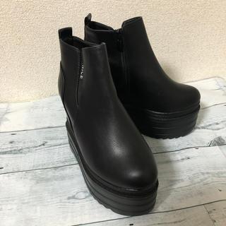 ウェッジ 厚底ショートブーツ(ブーツ)