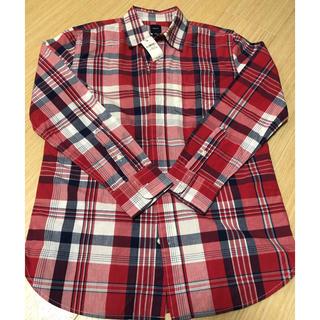 ギャップ(GAP)の♡新品タグ付き♡GAP長袖チェックシャツサイズ150(赤)(ブラウス)
