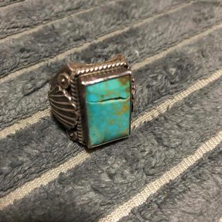 ビッグ ターコイズ リング 指輪 ナバホ インディアン(リング(指輪))