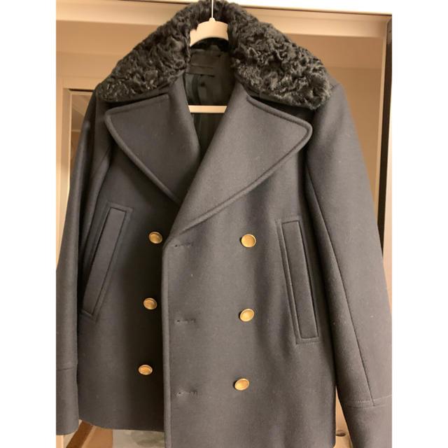BLACK GOLD(ブラックゴールド)のDiesel Black Gold ピーコート 46  ファー付き メンズのジャケット/アウター(ピーコート)の商品写真