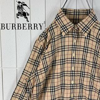 BURBERRY - バーバリー 激レア ゆるだぼ 2000年代 長袖 ノバチェック シャツ 可愛い
