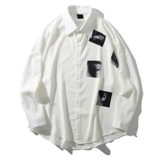 ヨウジヤマモト(Yohji Yamamoto)の【新品】90s ヨーロッパ 総柄 長袖シャツ 個性派 奇抜 幾何学模様 LAD風(シャツ)