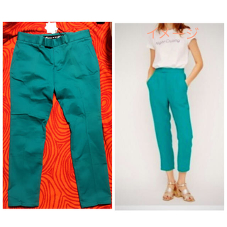 SLY - SLY グリーン きれい目パンツ サイズ 2 新品未使用品