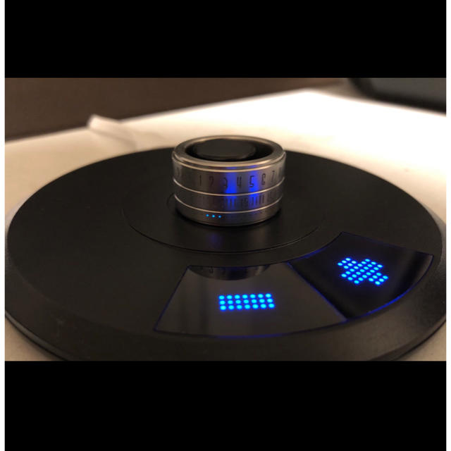 ring clock リングクロック シルバー×ブルー 21号 指輪 メンズのアクセサリー(リング(指輪))の商品写真
