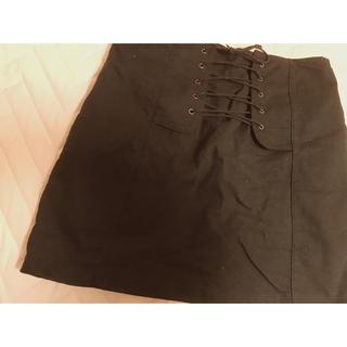 グレイル(GRL)の【GRL】編み上げスカート⸜☺︎⸝(ミニスカート)