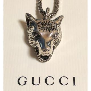 Gucci - GUCCI グッチ 正規品 ウルフ ヘッド ネックレス シルバー 中古 美品